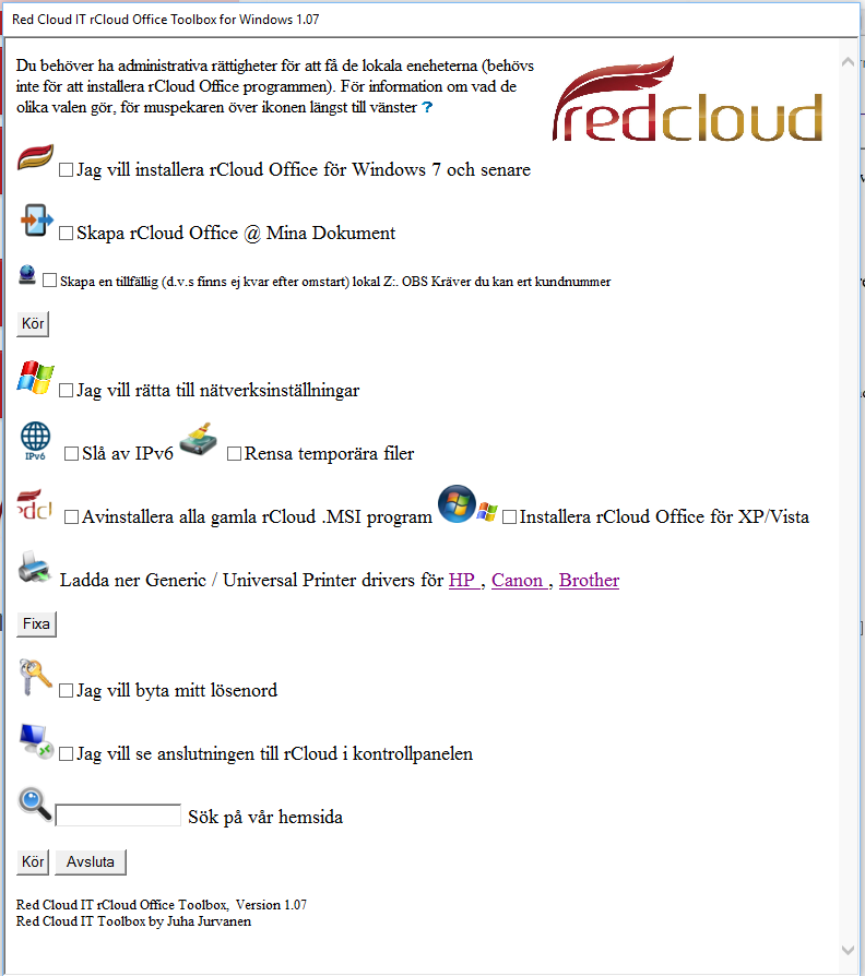 rCloud Office Toolbox for Windows